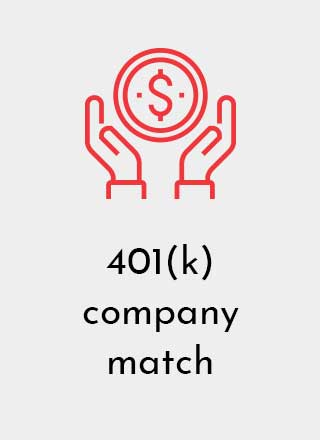 Designetics offers employees 401(k) company match